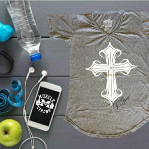 T-Shirt Long Feminina Cruz